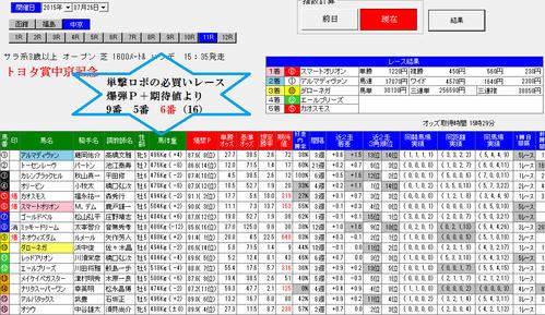 単撃ロボ0726中京記念直前画面