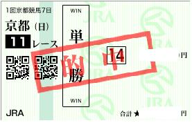 0122京都11R決め軸単勝馬券