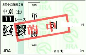 0722中京11R展開決め軸単勝
