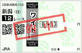 0904新潟12R必買いワイド1点