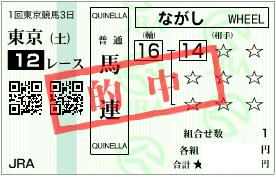 0204東京12R決め軸(とある必勝パターン馬)馬連1点加重