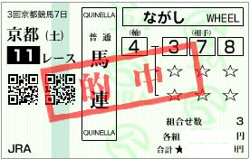 0514京都11R馬連期待値馬券