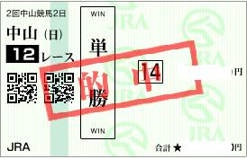0226中山12R決め軸単勝