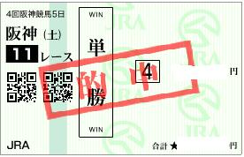 0924阪神11Rダート1400決め穴軸単勝