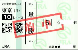 0518東京10R決め穴軸単勝