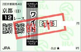 0205京都12R決めワイド1点