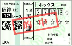 0304阪神12R必買い馬連ボックス