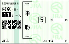 1124ジャパンカップ決め単勝