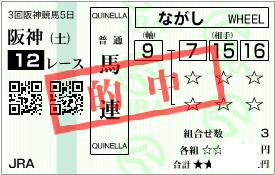 0621阪神12R決め穴軸馬連加重