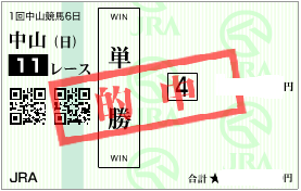 0117京成杯決め単勝馬券