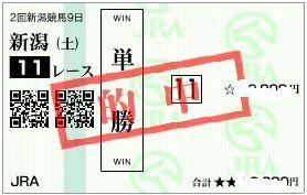 0824新潟11r単勝配当4040円