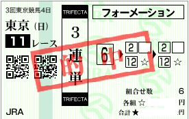 0614エプソムC3連単フォーメーション加重