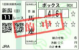 0510新潟大賞典決め馬連ボックス