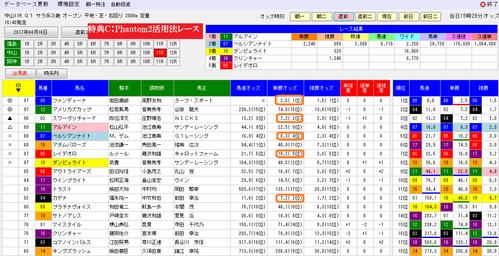 Phantom2活用法0416皐月賞の画面