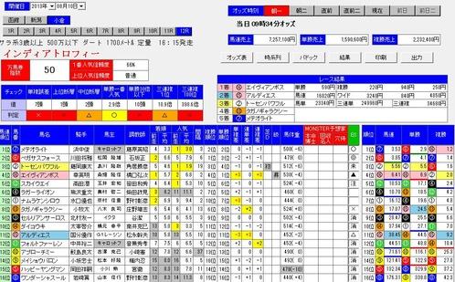 0810小倉12Rオッズ分析MONSTER朝一