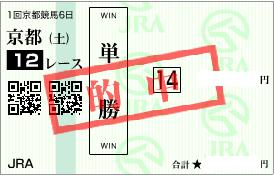 0121京都12R決め穴馬単撃ロボ馬券