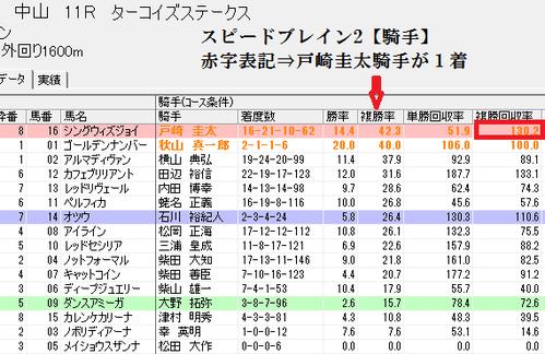 スピードブレイン2【騎手】1219中山11RターコイズS