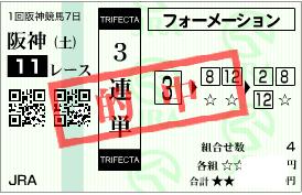 0322阪神11R3連単決め勝負