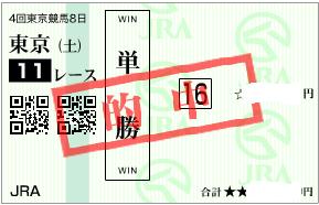 1101東京11R決め穴軸単勝