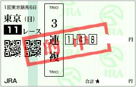 0212中山11R重賞G3パドック◎との決め3連複1点
