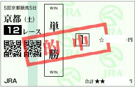 1116京都12r決め穴軸の単勝
