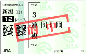 0809新潟12R高的中パターン必勝買い目