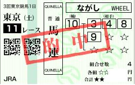 0606東京11R決め軸馬連流し2
