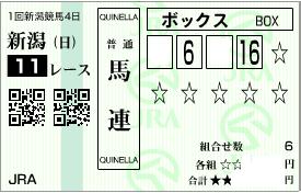 0510新潟大賞典決め馬連ボックス1