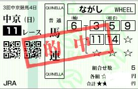 0713中京11R堅軸馬連流し