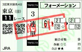0614エプソムC3連単フォーメーション