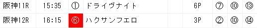 ジャッジメント0616阪神11R画面