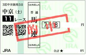 0715中京11R馬連加重目