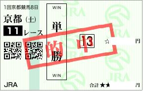 0124京都11R決め穴軸単勝