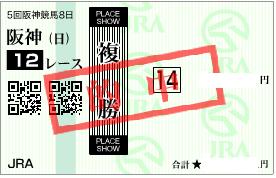 1227阪神12R決め軸複勝馬券