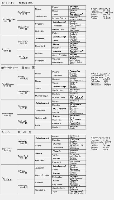 スピードシンボリ6代血統表