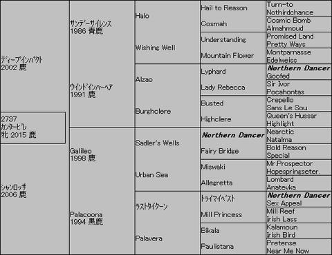カンタービレ5代血統表