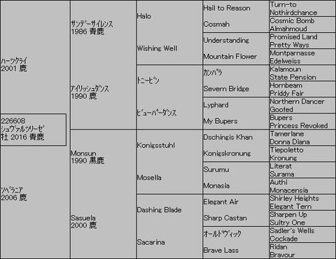 シュヴァルツリーゼ5代血統表