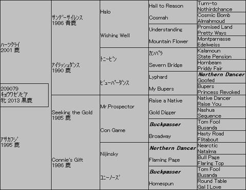 キョウワゼノビア5代血統表