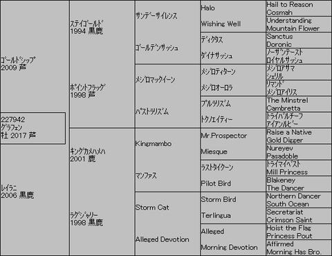 グラフェン5代血統表