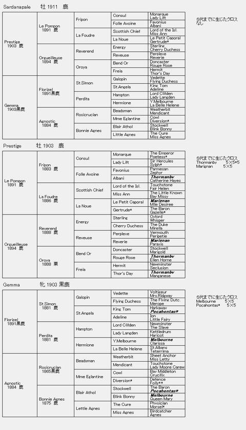 Sardanapale 6代血統表