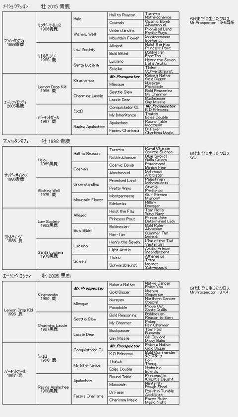 メイショウテッコン6代血統表