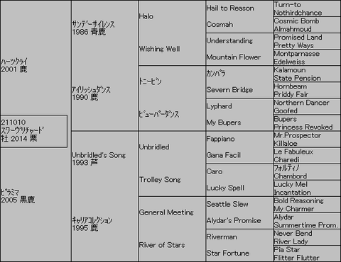 スワーヴリチャード5代血統表