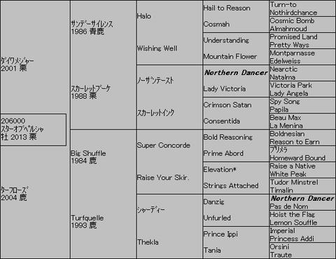 スターオブペルシャ5代血統表