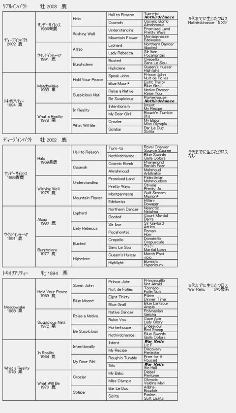 リアルインパクト6代血統表