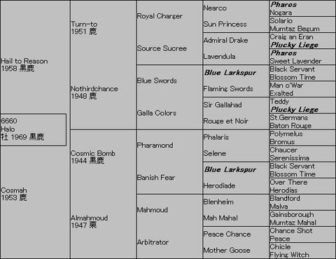 Halo 5代血統表