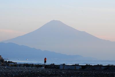 三保の松原から望む富士山!