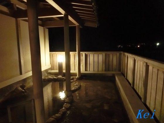 千里浜やわらぎ温泉『ホテルウェルネス能登路』(5)夜の温泉と ...