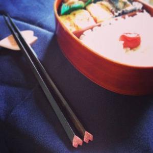 ピンクのハート箸使ってみました!