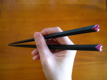 正しい箸の持ち方できますか?