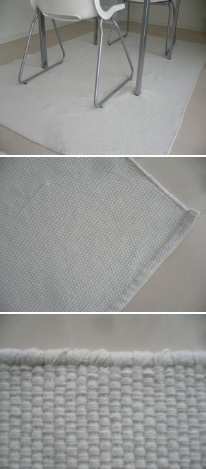 インド綿の手織りラグ